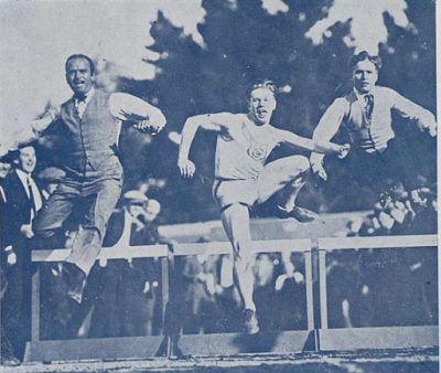Douglas Fairbanks and Charlie Chaplin at the 1924 Olympic Games