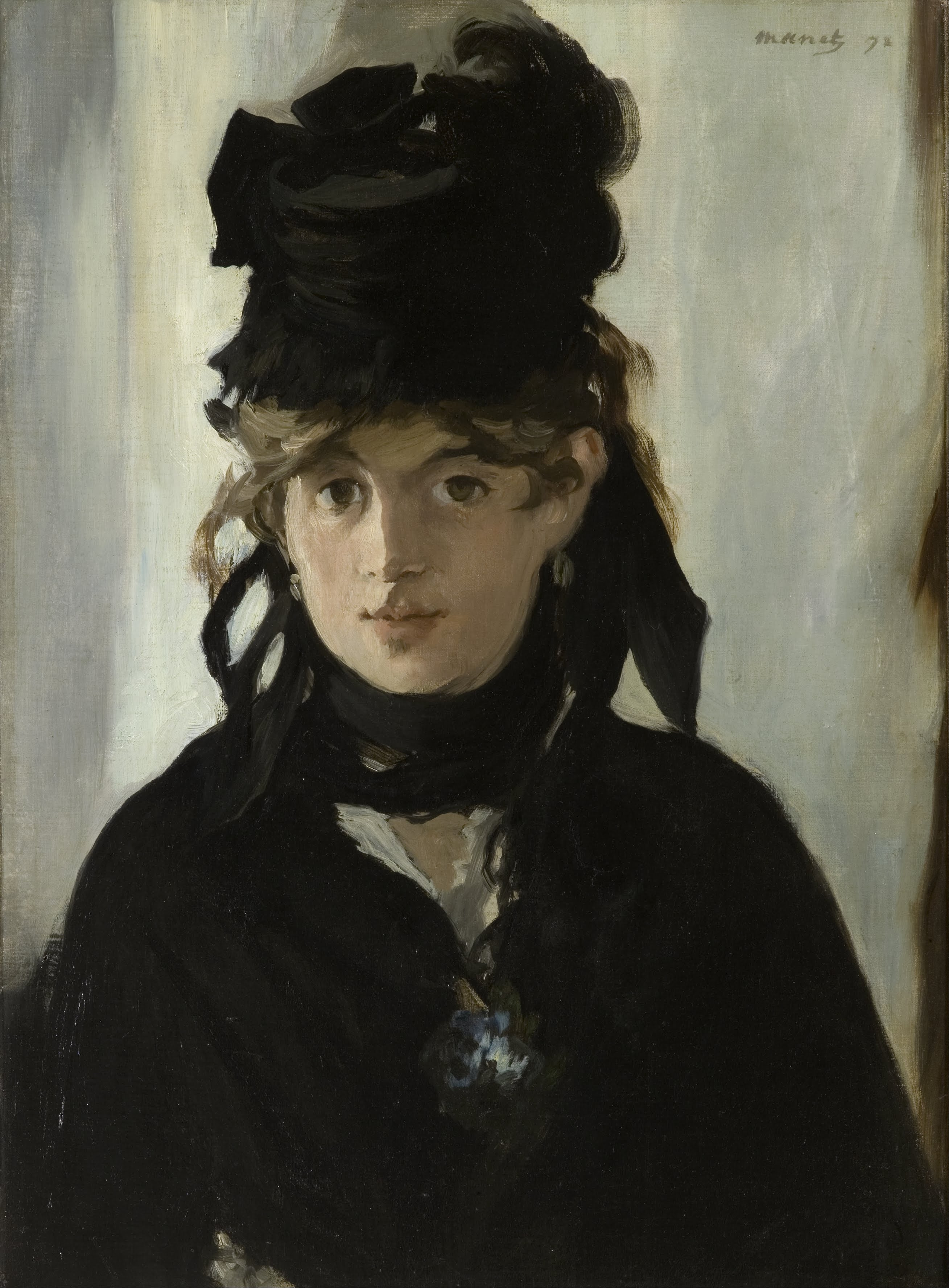 Berthe Morisot with Violets, Edouard Manet, 1872.