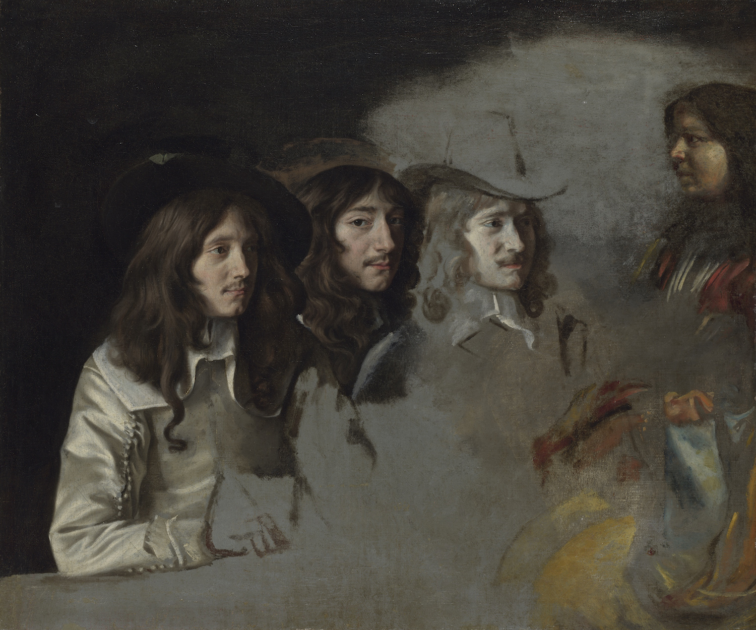 """Le Nain, """"Three Men and a Boy,"""" ca. 1640–1645. Oil on canvas, 21 ¼ x 25 3/8 in. National Gallery, London, NG 4857. © National Gallery, London"""