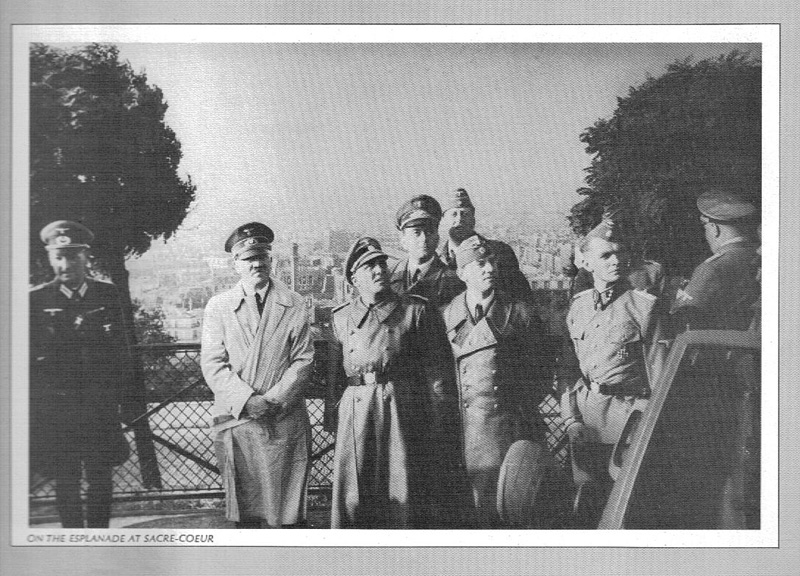 Adolf Hitler in front of Sacre Coeur, Paris.